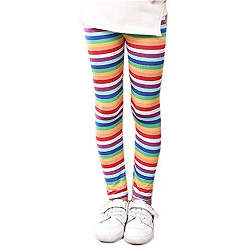 OVERMAL Mädchen Leggings Hosen Mädchen Skinny Blumen Drucken Hosen Stretch Mädchen Slim Bleistift Hosen (10-11 Jahre, Heiß Rosa)