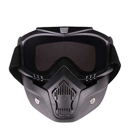 ZYSMC Motocross Gafas Protectoras contra El Polvo Máscaras Tácticas Viento Polvo Equitación...