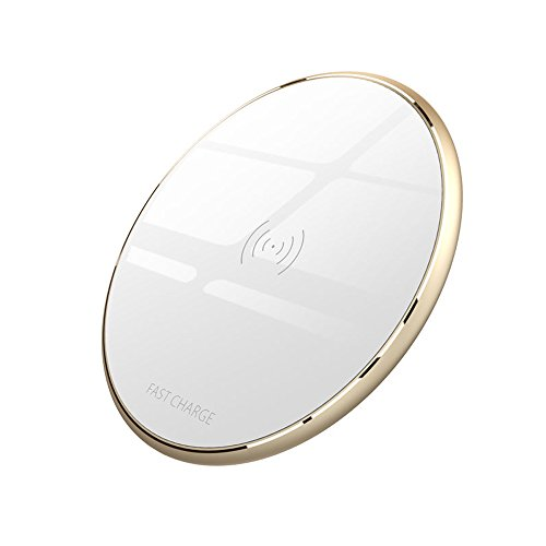 Cargador Inalámbrico Rápido, VIVK (Material) Wireless Charger iPhone X iPhone 8/8Plus-Blanco