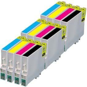 T0615 - 12 Cartouches d'encre Compatibles pour Epson Stylus DX4850 D88 Plus DX3800 DX3850 DX4200 DX4800 D88PE Photo Edition D68 D68PE DX4250 - Cyan / Jaune / Magenta / Noir Avec Puce