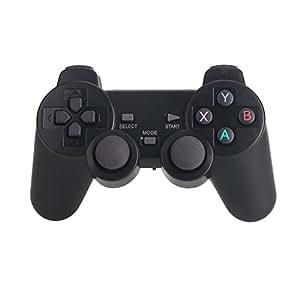 Jiayuane Controller Wireless PS3 Joystick a Doppia Vibrazione Gamepad 2.4 GHz con Supporto telefonico per Playstation 3 / PC, Android TV/Type-C Smartphone, Nero
