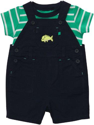 Carter's 2 teilige Kombination T-Shirt + Latzhose Junge Baby Sommer outfit boy Set (50/56, grün/blau)