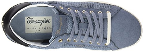 Wrangler Wave Low Mesh Damen Sneakers Blau (118  Jeans)