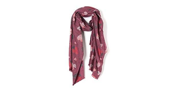 MForshop Sciarpa scialle Scarf Pashmina coprispalle foulard kefia cuori nuova moda w-1092