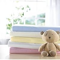 Izziwotnot Bear Essentials Flannelette Flat Sheet 2 Pack Pink