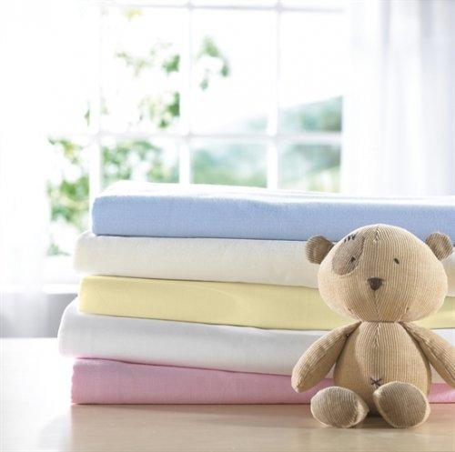 Izziwotnot Bear Essentials Interlock-Jersey-Spannbettlaken für Kinderwagen, Limone, 2 Stück