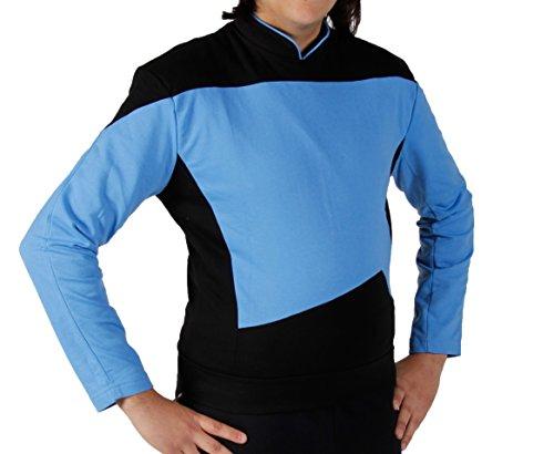 Star Trek Next Generation Uniform Shirt - super deluxe Baumwolle (XX-Large, blau)