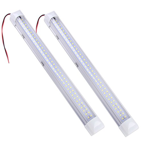 beler 2stk 12V 72 LED Innenbeleuchtung Leuchte Weiß Leiste für PKW Van Bus Wohnwagen ON/OFF Schalter (12 V Wohnmobil-leuchten)