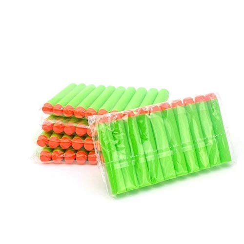 Homclo 50 Stück Pfeile nerf schwarz soft Darts kugel gun aus eva Schaum Spielzeug für Kinder