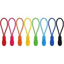 40 Pezzi Chiusure Lampo Zipper Pull Cerniera Lampo Cerniera Tira, 8 Colori