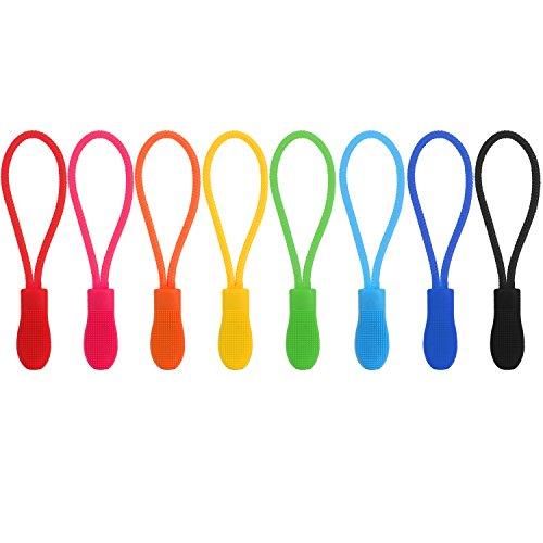 Outus 40 Stück Zipper Pulls Reißverschluss Verlängerung Reißverschluss Tag Ersatz, 8 Farben