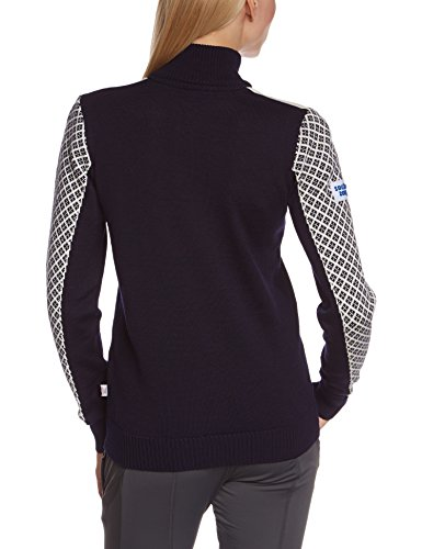 Dale of Norway Fjell Pullover pour femme Bleu - Navy/Off White/Sochi Blue