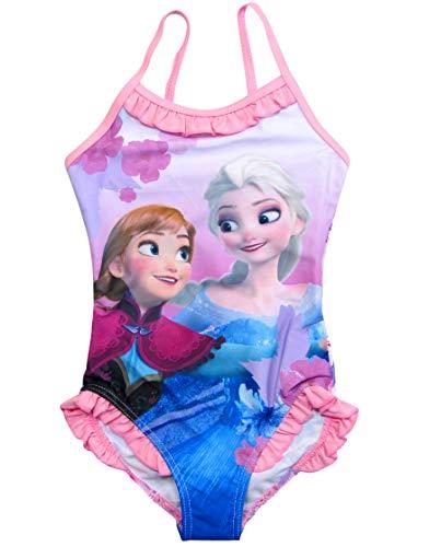 Frozen Badeanzug Die Eiskönigin Anna ELSA Disney (116, Fuchsia)