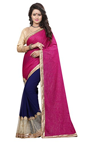 Chigy Whigy Pink Velvet party wear Sarees