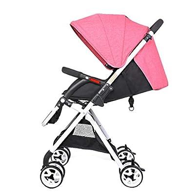 Silla de paseo Ligera Plegable con una mano/Capota Extensible/Respaldo Reclinable/Arnés de Cinco puntos Desde Nacimiento Hasta 15 kg