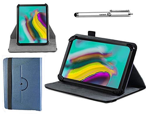 Navitech Blau Ledertasche mit 360 Drehständer und Stift kompatibel mit dem RCA Voyager II Tablet 7 inch | RCA Voyager III 7 Inch