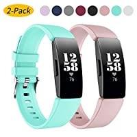 Ansblue Strap Compatible with Fitbit Inspire HR/Fitbit Inspire/Fitbit Ace 2,Adjustable Soft Silicone Sports Replacement Wristband,Water Resistant Fitness Straps Multi Color for Women Men Large Small