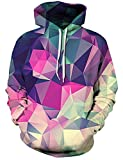 Rave on Friday Pull Capuche Femme Homme Cristal Coloré Créatif 3D Sweat a Capuche Respirant Doux Pullover Pullover Jumpers Tops Hooded Sweat-Shirts