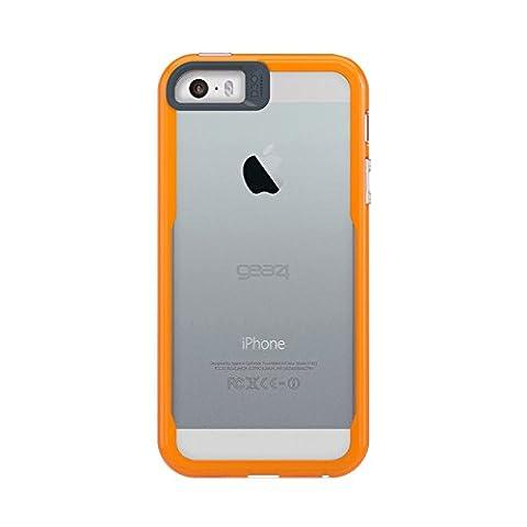 Gear4 D3O Jumpsuit Coque pour iPhone 5/5S/5SE/SE Transparent/Orange