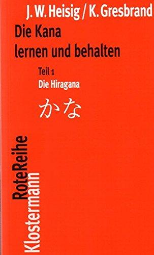 Die Kana lernen und behalten Teil 1: Die Hiragana / Teil 2: Die Katakana