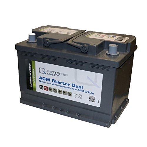 Q de batteries de démarrage et de soins Batterie AGM 12 V 70 Ah 760 A 570 01