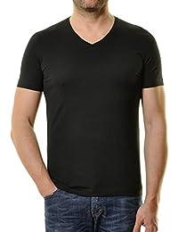 RAGMAN Herren 2 T-Shirt Doppelpack Bodyfit mit V-Ausschnitt 078312183e