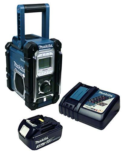 Makita DMR 108 Baustellenradio mit Bluetooth + Akku 3 Ah und Ladegerät