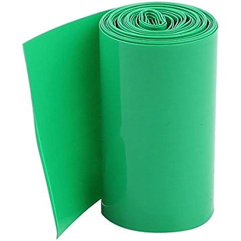 Tubo de encogimiento de calor - SODIAL(R)2M 50mm Verde oscuro PVC Tubo de encogimiento de calor Envoltura para 2 x 18650 bateria