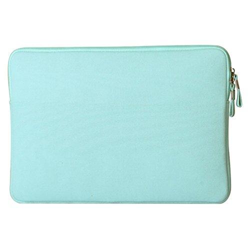 YiJee Wasserdicht Sleeve Laptoptasche Notebookhülle Zubehörtasche für MacBooks 15.4 Zoll Grün 1