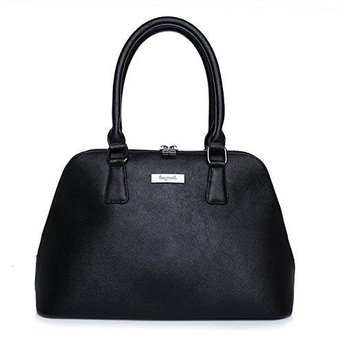 tragwert. Damentasche Henkeltasche NELE in schwarz - Shopper Handtasche für Damen