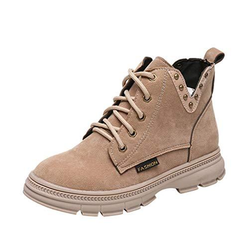 Amlaiworld Zapatos de Mujer con Cordones,Botines de Mujer...