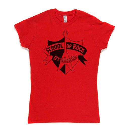 School Rock Graduate Womens Fitted T-shirt Rot