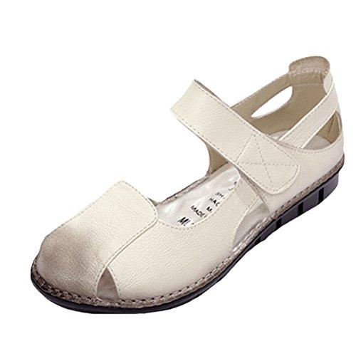Vogstyle Donne Sandali Scarpe Casual Classic Bocca Di Pesce Romani Sandali Stile 2-Beige