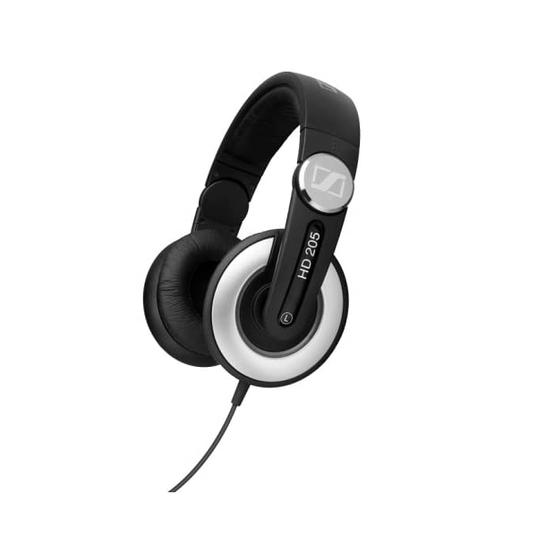 Sennheiser-HD-205-Studio-Monitor-DJ-Headphones-wSwivel-Ear-Cup-Old-Version
