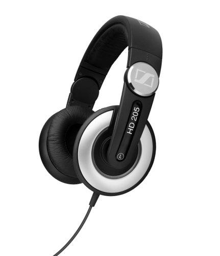 Sennheiser HD 205 Studio Monitor DJ Headphones w/Swivel Ear Cup (Old Version)