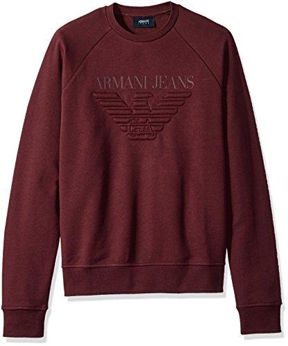 Armani Jeans Men's Regular Fit Fleece Pullover Crew Sweatshirt Denim, Fleece-pullover