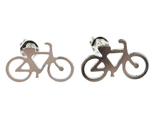 Mountainbike-kunst (Fahrrad Ohrstecker Miniblings Stecker Ohrringe Bike Fixie Mountainbike silber)