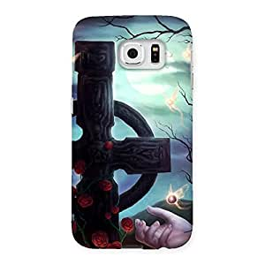 Stylish Crossed Circle Multicolor Back Case Cover for Samsung Galaxy S6