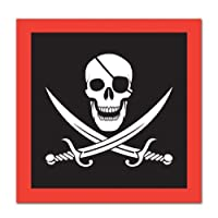 Pirate Beverage Napkins (2-Ply) (16/Pkg)