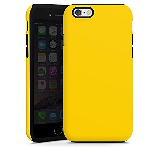 Apple iPhone 4 Housse Étui Silicone Coque Protection Jaune Jaune soleil Printemps Cas Tough terne