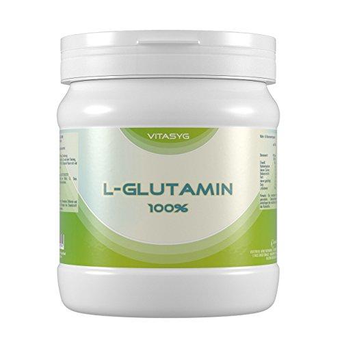 #Vitasyg L-Glutamin Pulver 100 Prozent rein, optimale Löslichkeit, Aminosäure, 1er Pack (1 x 800 g)#