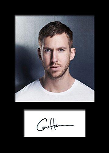 Calvin Harris #2 foto firmada por A5 diseño de