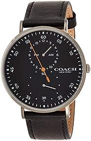 Coach Mens Quartz Wrist Watch, Black Leather - 14602476