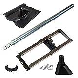 HB-DIGITAL Set: Dachsparrenhalter Ø 60mm 100cm + Dachabdeckung schwarz + Manschette schwarz + Kabelclip + 6X Schrauben