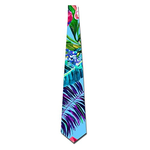 Island Style Floral Summer Beach Surf With Tropical Leaf Men Necktie Classic Silk Tie Woven Jacquard Neck Ties