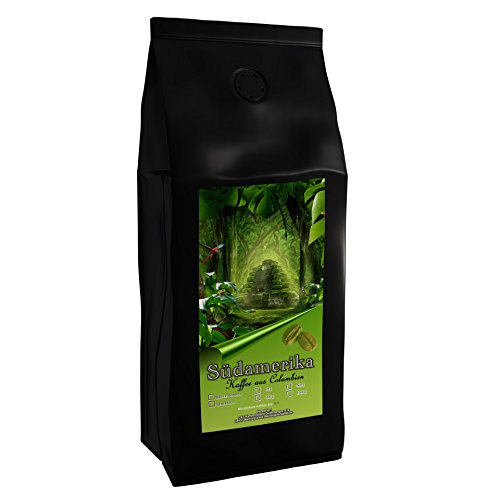 Kaffeespezialität Aus Südamerika - Kolumbien, Dem Kaffee-Dreieck Der Aromen (Ganze Bohne,1000 Gramm) - Länderkaffee - Spitzenkaffee - Säurearm - Schonend Und Frisch Geröstet