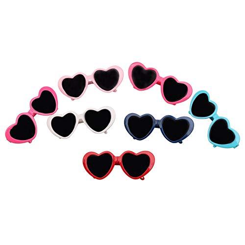 joizo Haustier-Brille Hairpin Dog Clip Haustiere Kopf Zubehör Schöne Herz-Sonnenbrille Hairpin-Hundesommer Pflege 1 Stück