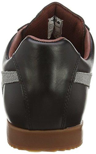 Gola Harrier Leather Herren Multisport Outdoor Schwarz (Black/grey/burgundy)