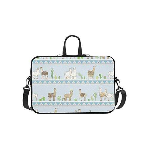 Lama Aktentasche Laptoptasche Messenger Schultertasche Crossbody Handtasche für Geschäftsreisen -