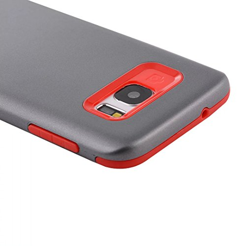 YHUISEN Galaxy S7 Case, 2 In 1 PC + TPU Dual Layer Armor Hybrid Schutz Schock Absorption Hard Back Cover Fall für Samsung Galaxy S7 ( Color : Gray Red ) Navy Blue